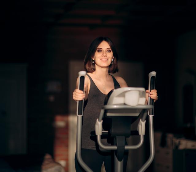 square of An Elliptical Machine Provides Low Impact Cardio Exercise