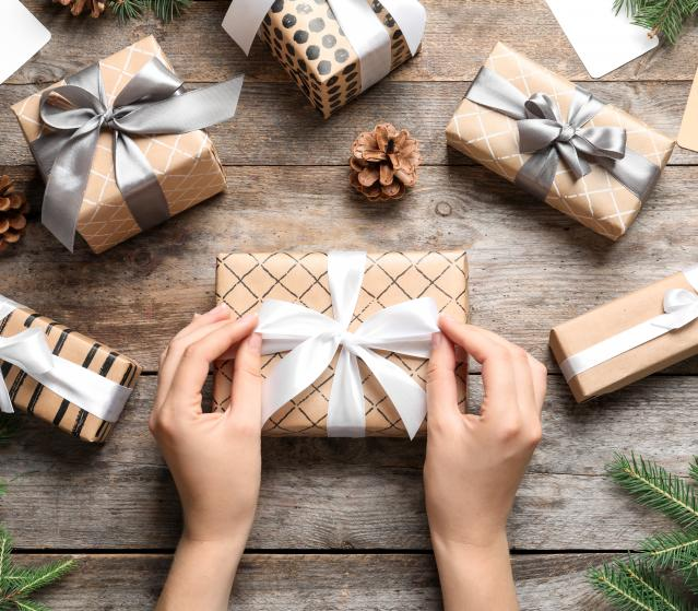square of nhance Your Gift By Wrapping It Beautifully