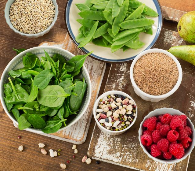 square of Six Foods to Increase the Benefits of Increased Fiber Intake